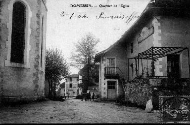 Quartier de l'église en 1908