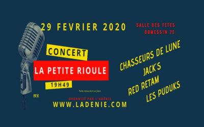 Concert «La Petite Rioule» – 29 février 2020